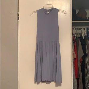 Periwinkle blue keyhole dress